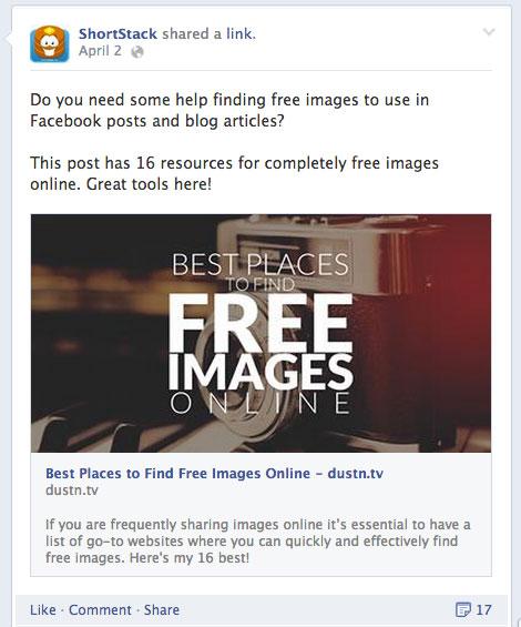 b2b customer facebook post