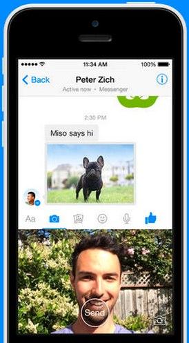 facebook messenger send photos