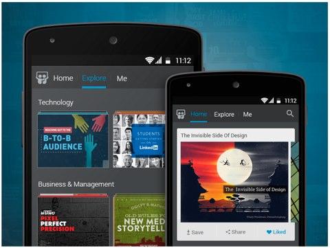linkedin slidehshare android app