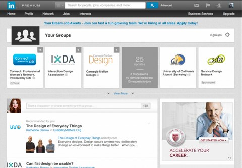 linkedin your groups