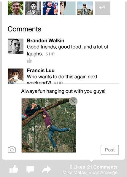 paper app photo comment