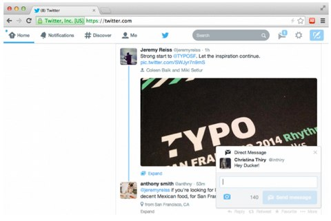 twitter direct message notification