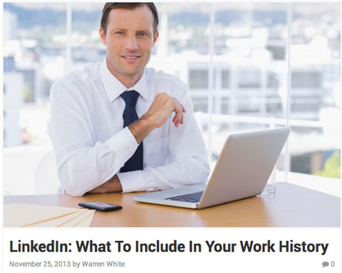 linkedin profile article image