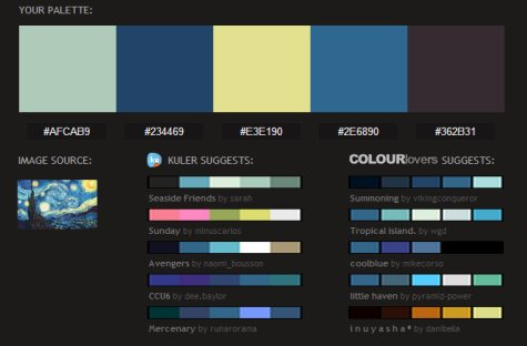 pictaculous color palettes