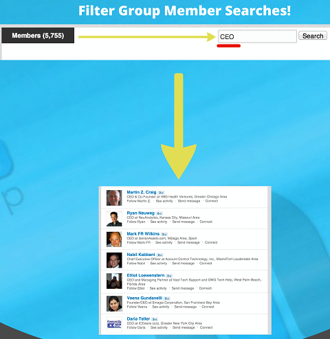 filtered group member search