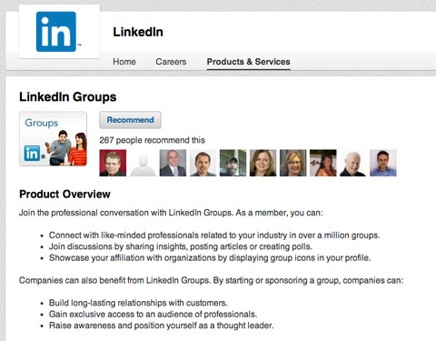 linkedin groups feature