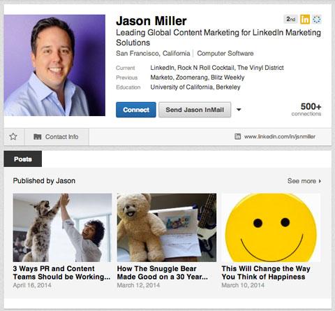 publishing platform articles on profile