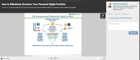 slideshare presentation on linkedin profile
