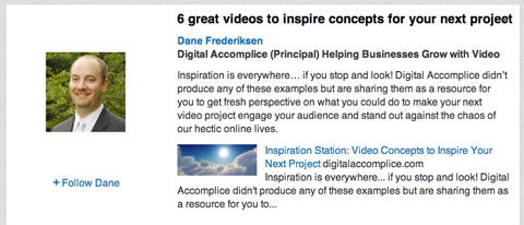 video marketing group post