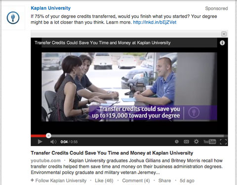 kaplan university video update