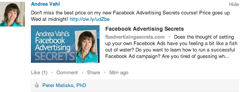 linkedin link post with a call to action