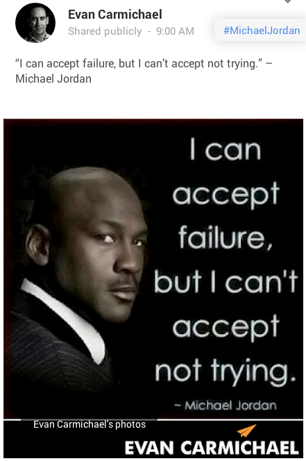 branded image of a michael jordan quote on google+