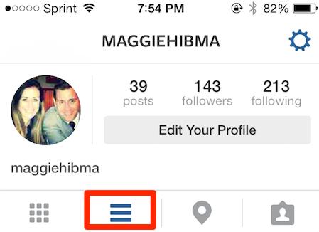 instagram list icon