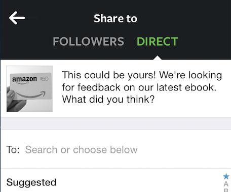 instagram direct share