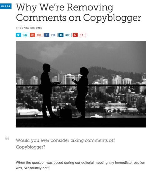 copyblogger remove comments