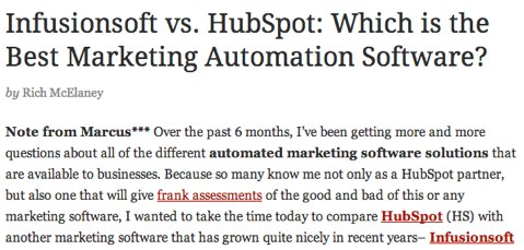 infusionsoft vs hubspot