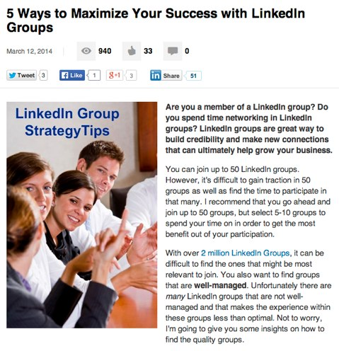 linkedin post with image