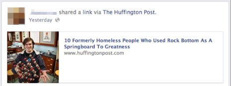 shared a link via huffington post