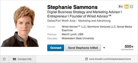 stephanie sammons linkedin profile