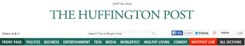the huffington post header