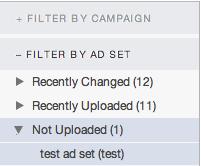 filtering ad sets