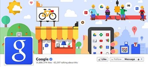 google's facebook cover image