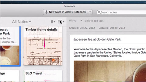evernote video gallery