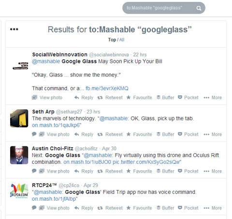 googleglass twitter search