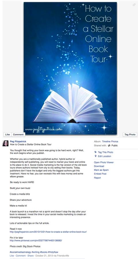 optimized facebook book tour image post