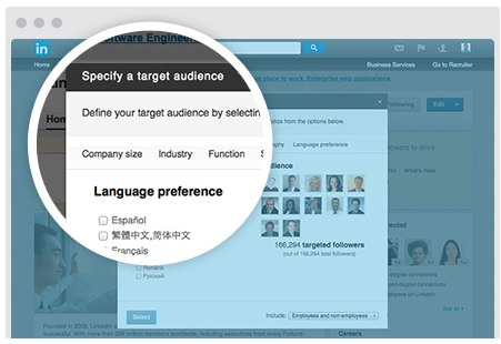 linkedin language preference