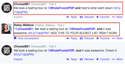 whole foods twitter mentions