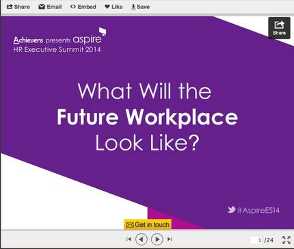 linked slide in a presentation