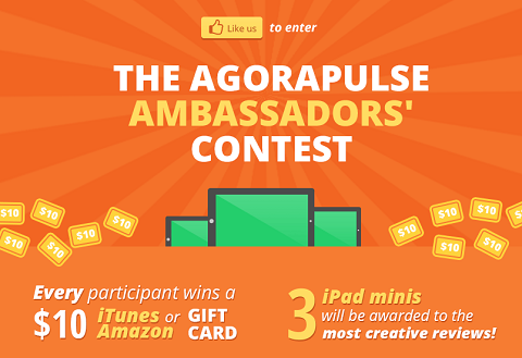agorapulse contest graphic