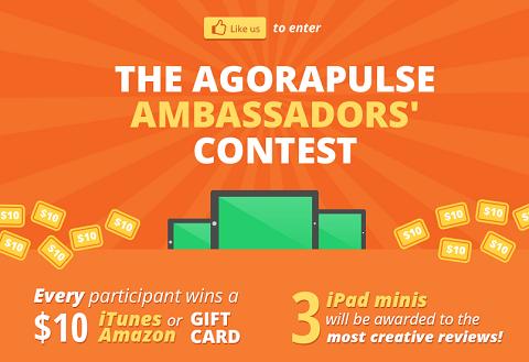 agorapulse contest graphic