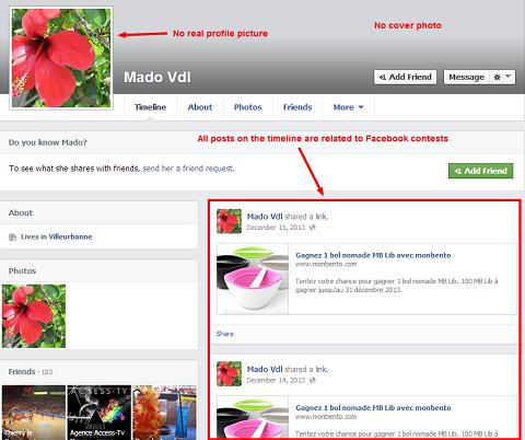 facebook scammer profile