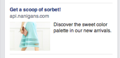 api nanigans facebook ad