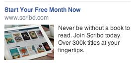 scribd facebook ad