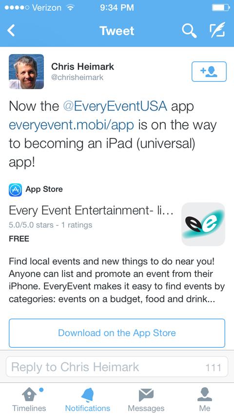 twitter app card