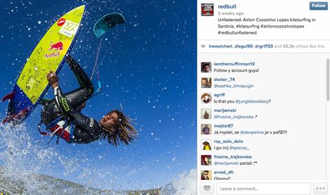 redbull kite surfing image