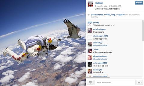 redbull skydive image