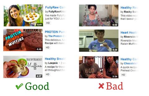 youtube video thumbnail comparison