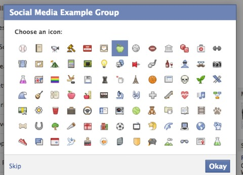 facebook group icon settings