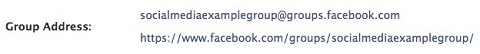 facebook group custom url popup