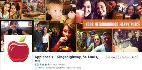 applebees facebook page