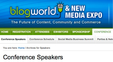 blogworld 2012 speakers