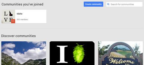 creating a google plus community