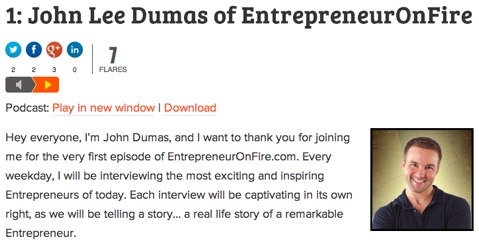 entrepreneur on fire episode
