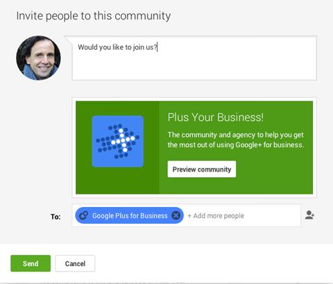 google plus community invite