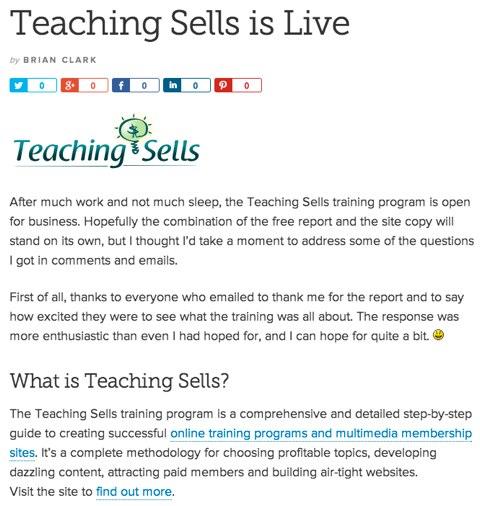 teaching sells copyblogger