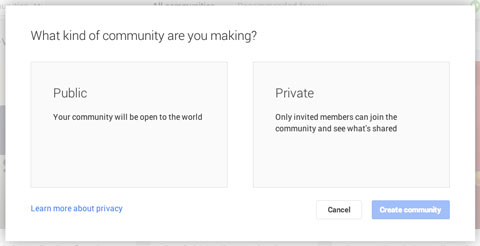 defining who can join your google plus community